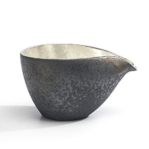 MZL Vintage Handgemachte Japanische Keramik Schwarze Keramik Metall Silber Fair Tasse Chinesischen Kung Fu Tee-Set Drink