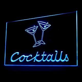 170065 Cocktails Margarita Martini Bar Pub Display LED Light Sign