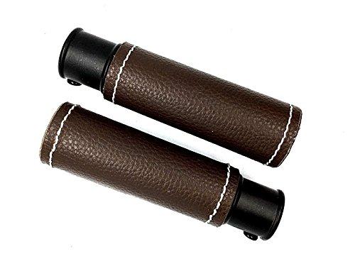 Kirsch.. 1 par de terminales de Piel marrón para Barra de Cortina DE 19 mm con Extremo de Tubo Cosido