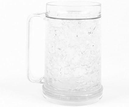 Capacity Clear Double Wall -16oz Freezer Mug