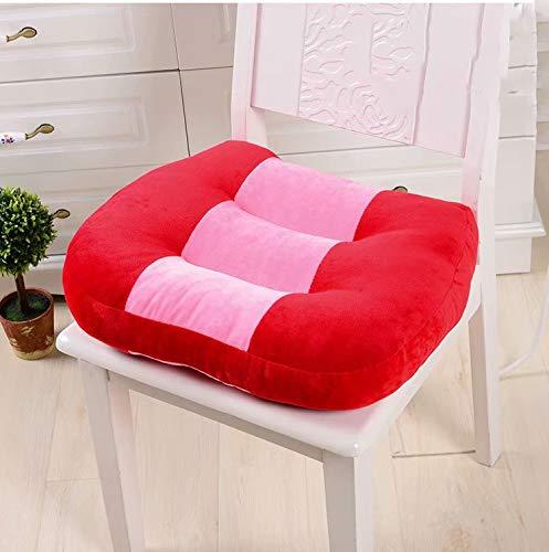 Coollooda almohadillas de asiento multifuncionales prueba de manejo cojín de asiento de automóvil dedicado almohadilla de asiento de silla Cojín de asiento grueso aumentado red 40cm*40cm
