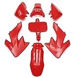 For HON-DA XR50 CRF50 SSR 70CC 90CC 110CC 125CC MOTORIA DE MOTORIA CHARENEO DE Cubierta DE Fender Molduras Ornamentales (Color : Red)
