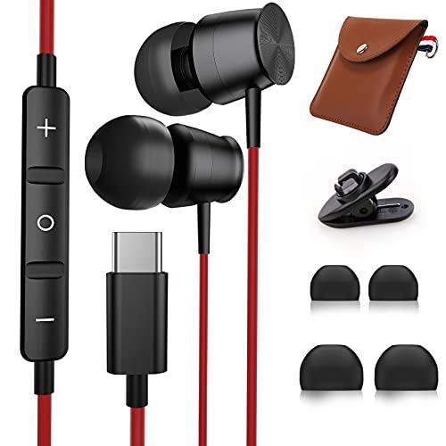USB C Kopfhörer für Samsung S20 FE S21, TUBhanggai Noise Cancelling USB C Ohrhörer mit Mikrofon, HiFi Typ C In Ear Kopfhörer mit Kabel für Samsung S21 Note 20 Ultra OnePlus 9 8 Pro Huawei P40 P30 Pro