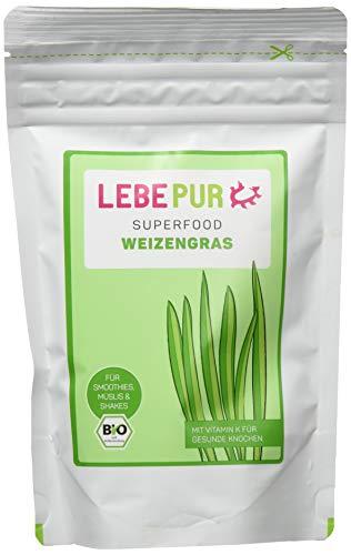Lebepur Smoothiepulver Weizengras - 6 Standbeutel à, 600 g