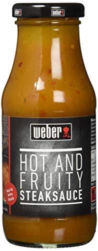 Weber Steak Sauce Hot und Fruity, 6er Pack (6 x 240 g)