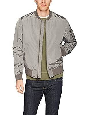 Goodthreads Men's Bomber Jacket, Grey, X-Large
