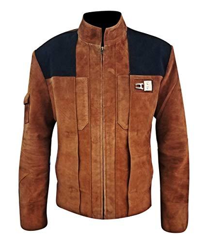 Feather Skin Männer Kleidung Solo A Star Wars Story Echt Suede Lederjacke- L