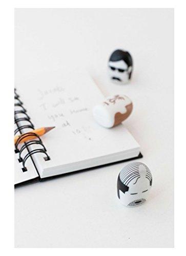 Kikkerland Erasers, Mustache, Set of 2 (ER15P) Photo #4