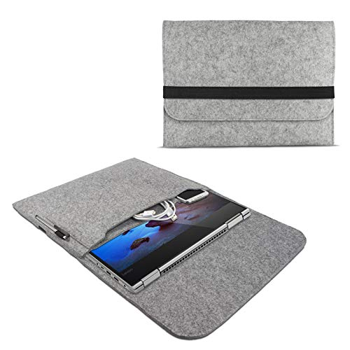 eFabrik ROYALZ Schutzhülle für Lenovo Yoga 530 / Yoga 520 Tasche aus Filz 14 Zoll Filztasche Case Sleeve Soft Cover Schutztasche Sleeve, Farbe:Grau