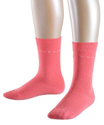 ESPRIT Kinder Socken Foot Logo 2-Pack, 80% Baumwolle, 2 Paar, Rosa (Purple/Rose 8885), Größe: 35-38