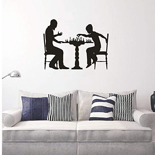 Yyoutop Pieza de ajedrez Jugar Juego de ajedrez Diseño de Arte Etiqueta de la Pared Impermeable Calcomanías Populares Inicio Dormitorio Decoración Papel Pintado 1 57x86cm