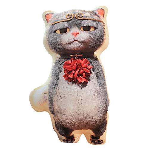N / A Kung Fu cat soft plush animal toy pillow Wukong sunglasses cat pillow sofa cushion backrest child plush toy child birthday gift 65cm