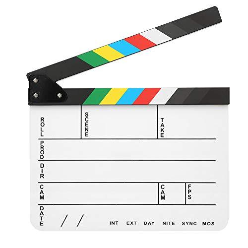 30x25CM Acrílico Claqueta de cine Director profesional Acción Clap Película Fotografía Herramienta...