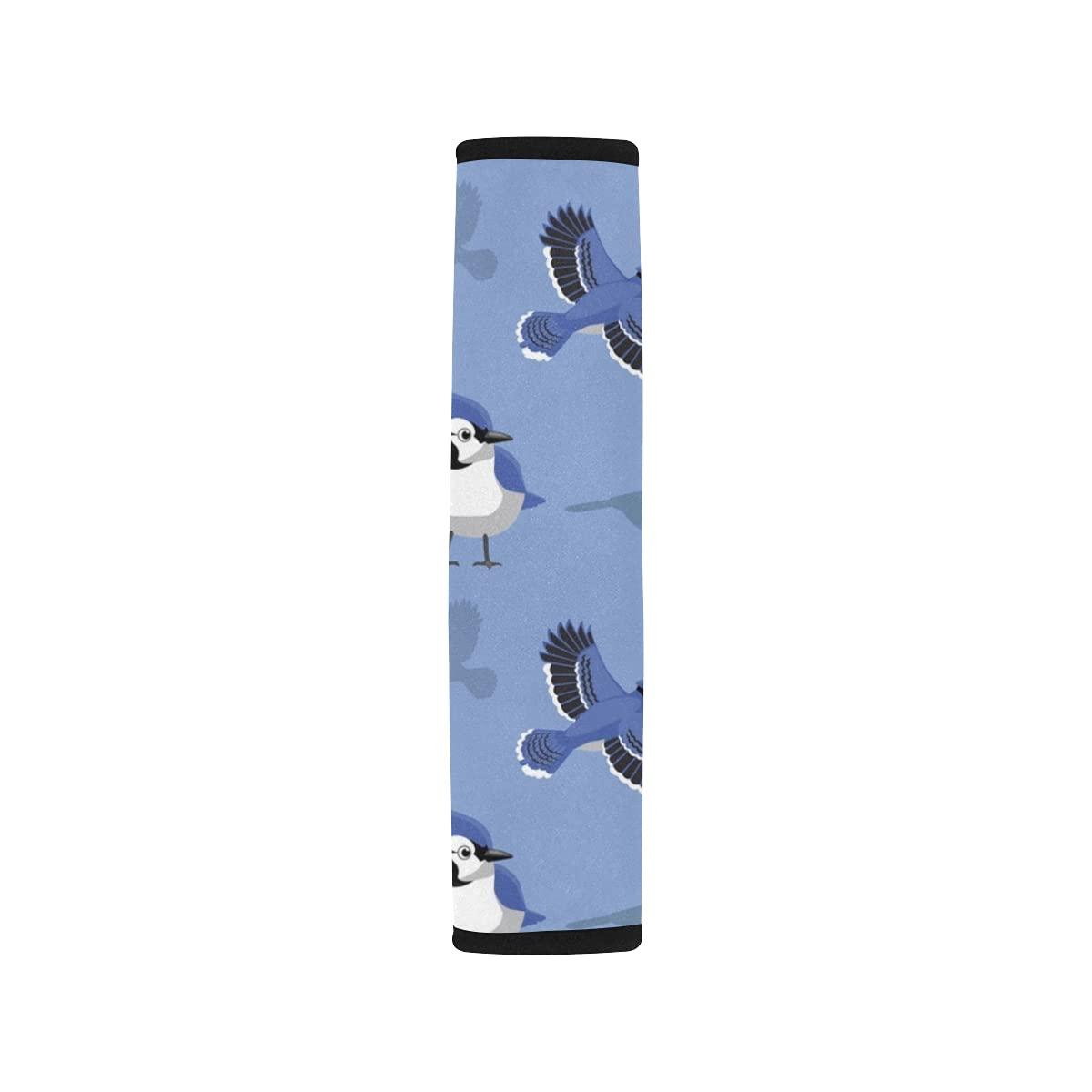 2pcs Car Seat Belt Cover 1 mart year warranty Blue Cartoon Jay Sea Wallpaper Shoulder