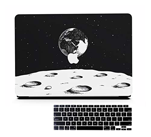 AOGGY MacBook Pro 13 Inch Case 2020 Version A2251/A2289/A2338 M1,Space Model Design, Plastic Hard Shell Protective Case and Keyboard Cover,for 2020 Mac Pro 13 with Touch Bar and Touch ID - Space 2