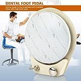 Changor 4 Agujeros adecuados, Pedal de Control de 17,5 x 15,5 cm con sillón Dental Antideslizante con Acero Cromado