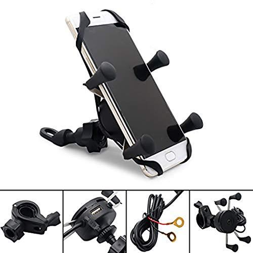 MASO Anti-Shake Universal Rotation Mobile Phone Mount Holder USB Charge UK for Bike, Bicycle, Motorbike, Mountain Bike,Fitting All handlebars