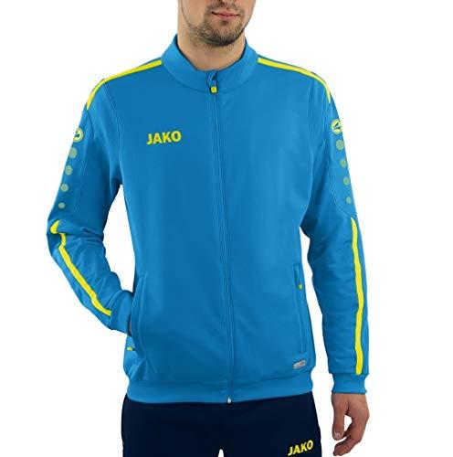 JAKO Chaqueta de poliéster Striker 2.0 para hombre, Hombre, Chaqueta de poliéster., 9319, Jako azul/amarillo neón., extra-large