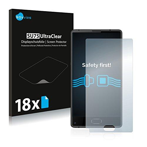 Savvies 18x Schutzfolie kompatibel mit Doogee Mix Lite Displayschutz-Folie Ultra-transparent