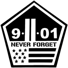 Never Forget Twin Towers 911 - Sticker Graphic - Auto, Wall, Laptop, Cell, Truck Sticker for Windows, Cars, Trucks