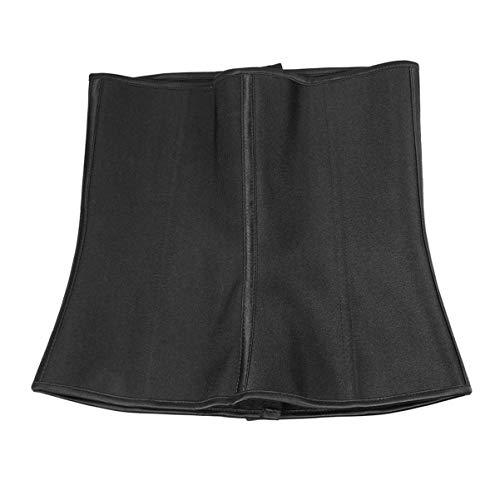 Modelador de cintura feminino KesYOO para treino sob o busto, cintura alta, controle de barriga, emagrecedor, cinta corporal e perda de peso, Preto, L