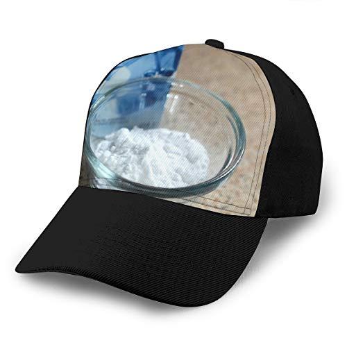 Zhgrong Backpulver Box Weißes Pulver Natriumbikarbonat Design Trucker Hat Sun Baseball Cap