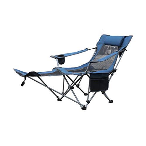 Shunsong shop Plegable al Aire Libre Hamaca la Almuerzo sillón Cama Siesta portátil Inicio Luz al Aire Libre Pesca Silla de Camping Silla de Playa (Azul)