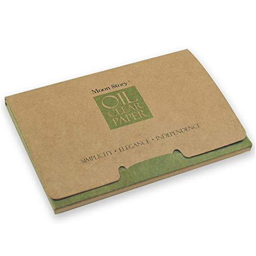 ZALING 100 Stücke Natürlicher Grüner Tee Öl-Löschpapier Make-up Löschpapiere Klare ölabsorbierende Blätter für die Öl-Hautpflege
