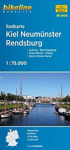 Radkarte Kiel Neumünster Rendsburg (RK-SH04): Aukrug - Preetz - Nord-Ostsee-Kanal