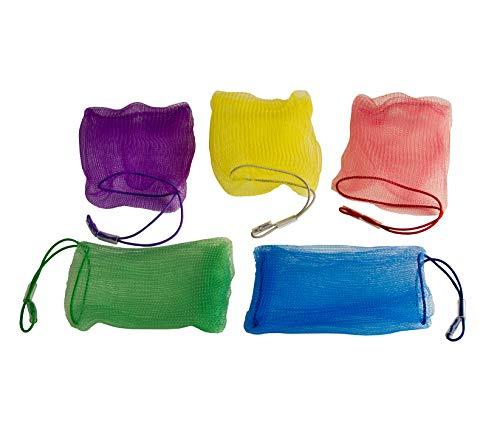 5 Stück Seifennetz Seifenbeutel für super Schaum Seifenrestebeutel Seifensäckchen Seifenreste Säckchen