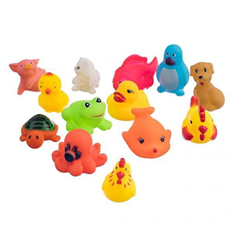 SONONIA  26匹 ラバー製 ミニ動物 柔らか きしむ お風呂の玩具 赤児 贈り物