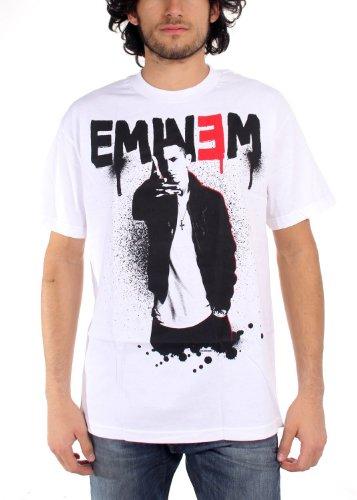 Eminem - - Up Männer T-Shirt in Weiß Spritzbeton, XXX-Large, White