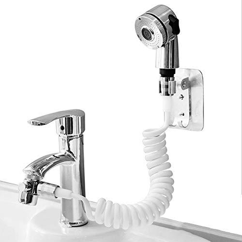 Yester - Alcachofa de ducha de mano para lavabo, alcachofa de ducha con 2 modos, con cabezal de dirección universal, perfecto para lavar el cabello o limpiar el lavabo