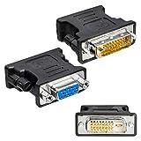 Adattatore da DVI-D a VGA 24+1 femmina, adattatore per monitor passivo, D-SUB, analogico, DVI-D maschio 24+1, presa VGA, doppio link per monitor, TFT, PC, proiettore, scheda grafica