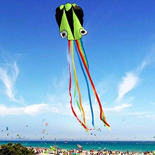 NGHXZ 3D 4M Octopus Kite Single Line Stunt/Software Power Sport Flying Soft Kite Outdoor Easy To Fly Kids Fun Toys Gifts