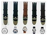 YUSWPX Correa de patrón de bambú Strap de Cuero Genuino Buckstrap Pin Brazalets Pulseras para Banda de Swatch 21mm (Band Color : Blk Texture Leather, Band Width : 21mm)