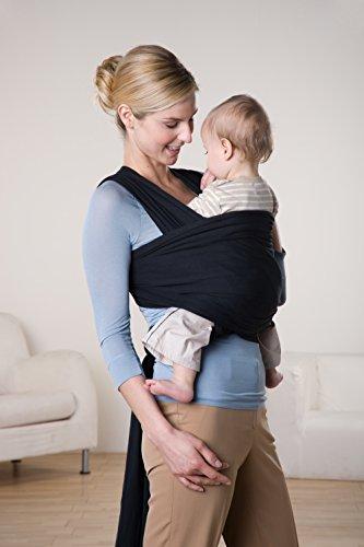 AMAZONAS Baby Tragetuch Jersey Sling black 0-9 Monate bis 9 Kg - 4