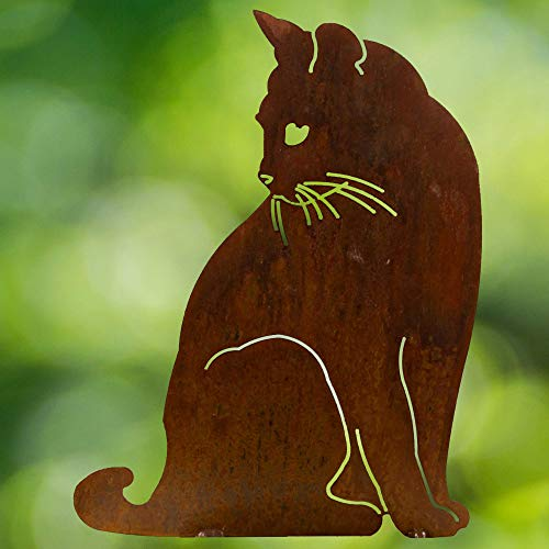 Chirpy Project Gartendekoration Cortenstahl Verwitterungsstahl Katze Silhouette