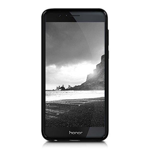 kwmobile Huawei Honor 8 / Honor 8 Premium Hülle - Handyhülle für Huawei Honor 8 / Honor 8 Premium - Handy Case in Schwarz matt - 2