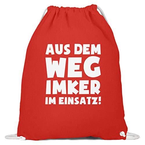 shirt-o-magic Imkern: Imker im Einsatz! - Baumwoll Gymsac -37cm-46cm-Hellrot