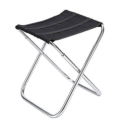 XIAOHE Chaise de Camping Portable, Chaise de Sac à Dos Pliante compacte et Ultra légère avec Sac fourre-Tout, Sports de Plein air, randonnée, pêche sur la Plage, Petit Mazza,Black