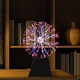 Bola de plasma mágica de 20 cm, bola de plasma, bola luminosa, electrostática sensible al tacto, juguete educativo, luz de plasma, lámpara de plasma, efectos de luz esféricos