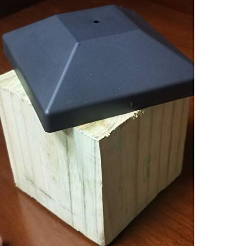 (16 Pack) Wood Fence Post Black Caps 4X4 (3 5/8