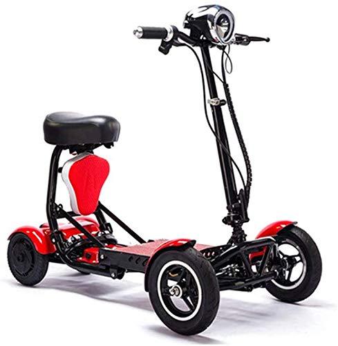 XYDDC 4-Wheel motorino Elettrico Portatile Scooter Elettrico da 10 Pollici Pieghevole Scooter Elettrico 36V disabili/Anziani