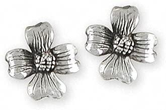 Dogwood Jewelry Sterling Silver Dogwood Earrings Handmade Flower Jewelry DGW5-E