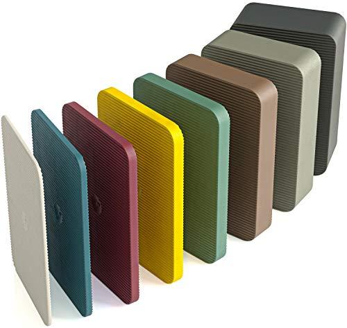 INNONEXXT® Premium Unterlegplatten | 60 x 40 mm 160 Stück Mix | Abstandshalter, Plättchen aus Kunststoff | Tragfähigkeit bis 16 t | Set: 1.5, 2, 3, 4, 5, 10, 15, 20 mm