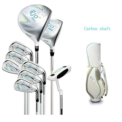 Mhwlai Frauen-Golfschläger, Elegante Damen und EIN halbes Set mit 9 Schlägern sowie eine Übungsbar für Junior-Highschool-Schüler (blau),D