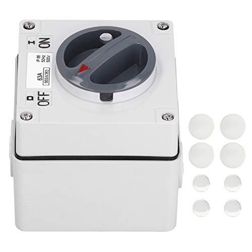 Enchufe para interruptor para exteriores, interruptor de 500 V, retardante de llama de alta resistencia para control industrial al aire libre(3P63A)