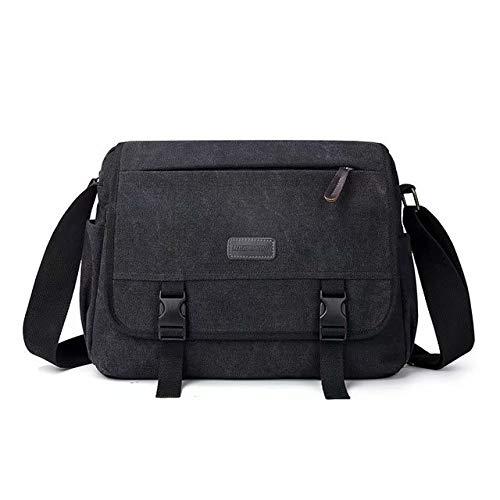 Coollooda bolsa de mensajero para hombre mochila escolar Casual black