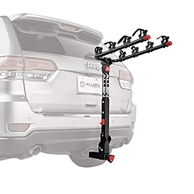 Allen Sports Deluxe+ Locking Quick Release 4-Bike Carrier for 2 in. Hitch, Model 840QR, Black